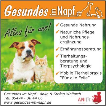 Gesundes im Napf - Naturnahrung für Hunde und Katzen