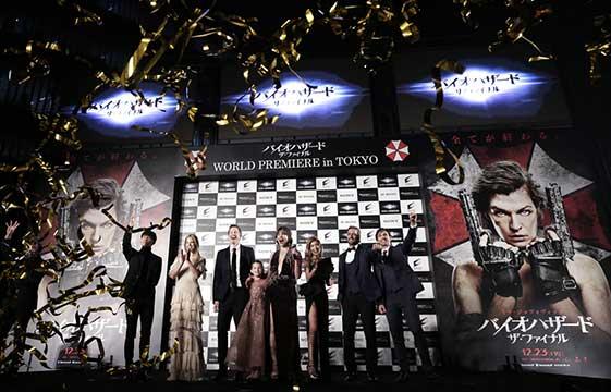Resident Evil feiert Weltpremiere in Tokyo