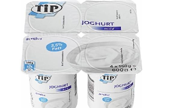 Rückruf bei real! – TiP Joghurt mild, 3,5% Fett –