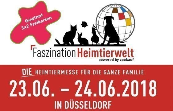 Gewinnt bei uns 3×2 Tickets für Faszination Heimtierwelt in Düsseldorf!