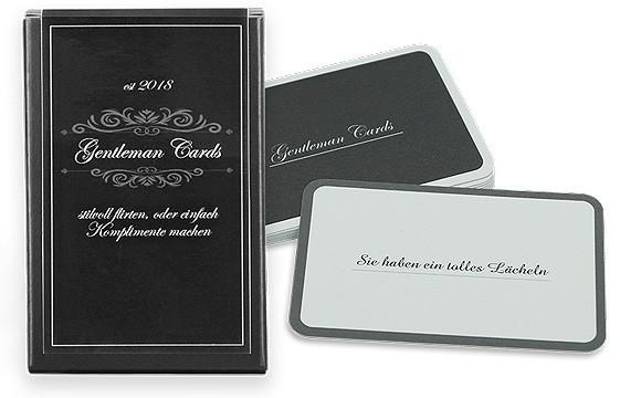Gentleman Cards – Flirten auf besondere Weise