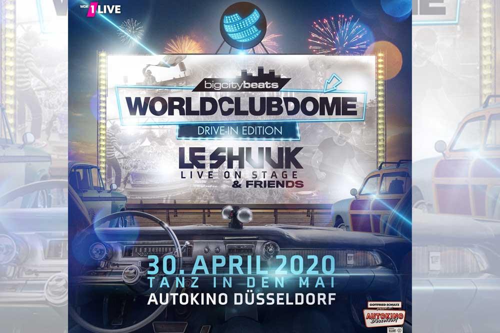 BigCityBeats verwandelt Düsseldorfer Autokino zum WORLD CLUB DOME Drive-In!