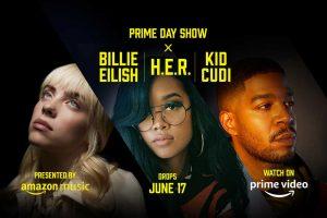 Amazon zeigt Prime Day Show mit Billie Eilish, H.E.R. und Kid Cudi als dreiteiligen Musikevent